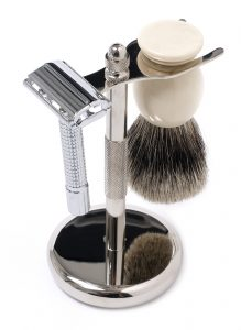 shaving set 219x300 - The Electric Razor vs. Wet-Shaving Debate