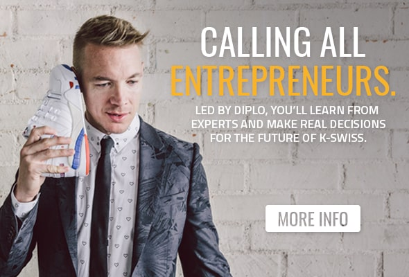 KS Web Zone01 BOD 01 - Calling Entrepreneurs: K-Swiss + Diplo Wants YOU