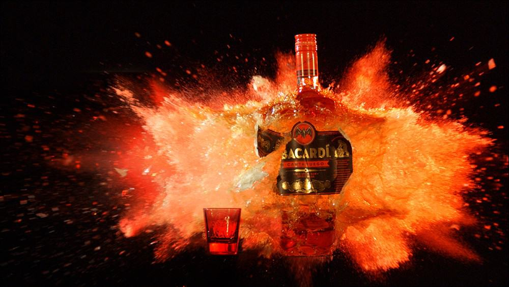 BottleExplosion 2 - BACARDI Carta Fuego Proves That Everything is Awesome in Slo-Mo