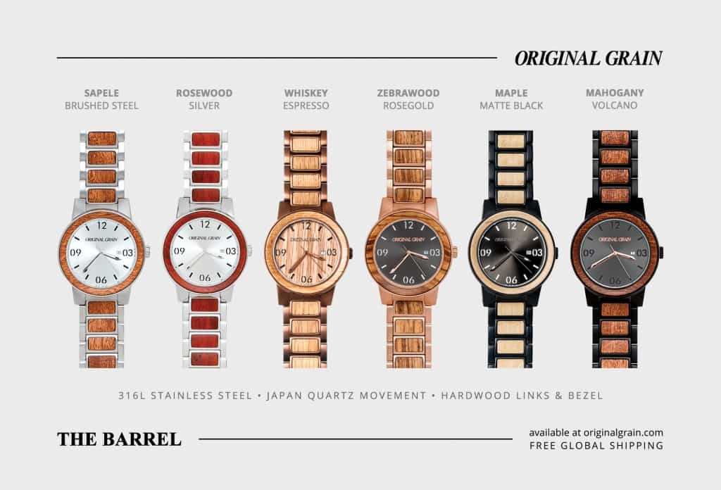 products original barrel grain wrist whiskey watches australia by bracelet espresso