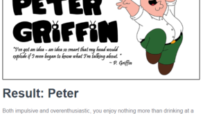 Which Family Guy Character are you?