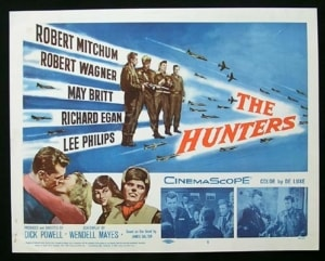 The Hunters lobby card 300x241 - Doing Manliness Right: The Robert Mitchum Way