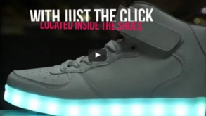 Light up shoes becoming a trend in the U.S.