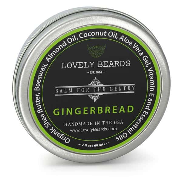 lovely beards tin front Gingerbread grande - Benefits of Beard Oil