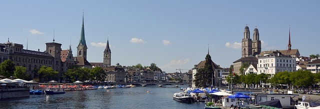 zurich 1577301 640 - Top Three Cities to Live and Work In