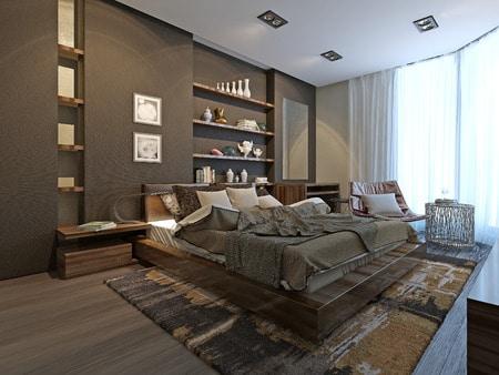 47512989 - bedroom avant-garde style, 3d model