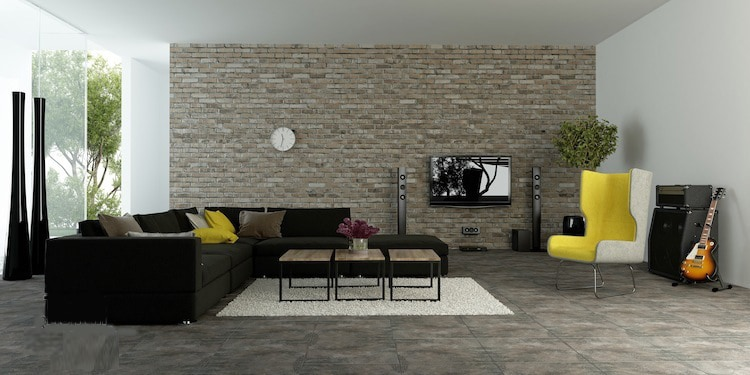 2 modern living room with accent wall - Add an oomph of style to your home with bold statement pieces