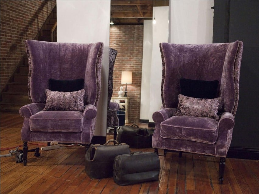 3 purple accent chair - Add an oomph of style to your home with bold statement pieces