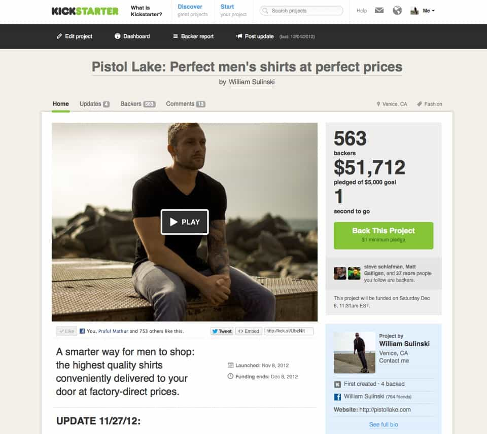 Pistol Lake Kickstarter - Craftsmanship Making a Comeback – Pistol Lake
