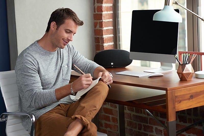 JBL Playlist Lifestyle Study 212 - JBL Playlist – Ideal Bluetooth Home Office Speaker