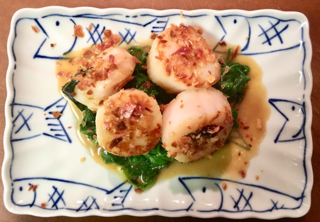 daRosario Scallops with Black Truffle Butter 1024x711 - Scallops with Black Truffle Butter and Crisp Pancetta