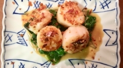 Scallops with Black Truffle Butter and Crisp Pancetta