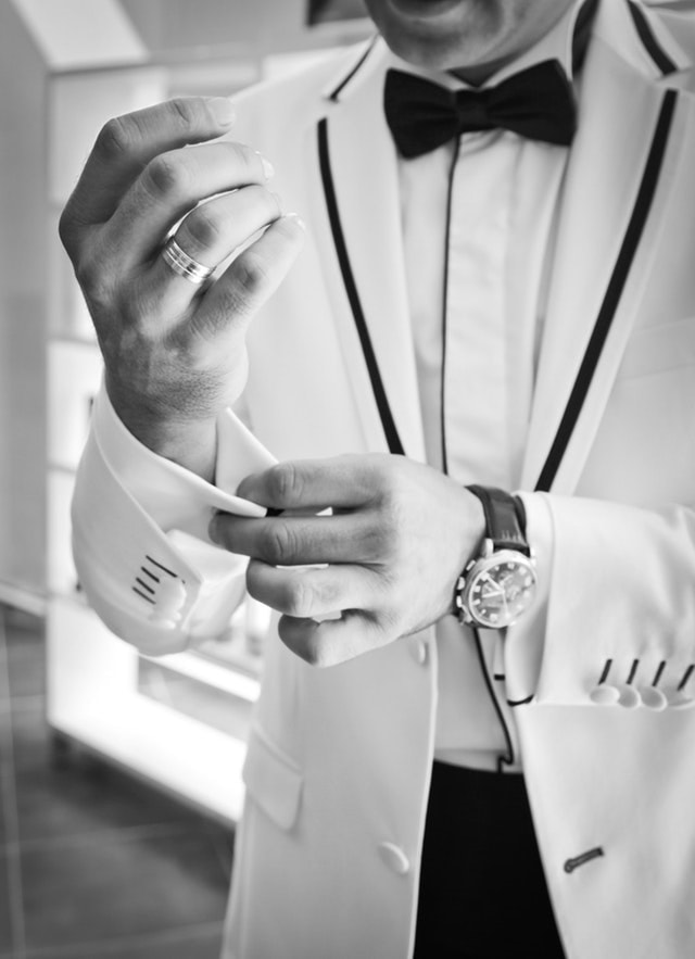 son in law cufflinks black and white bow tie 38270 - Our Guide to Suiting Up (or not) For Your Next Event