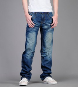 Denim styled pants 269x300 - How Men's Fashion has evolved to today's Fashion Trends