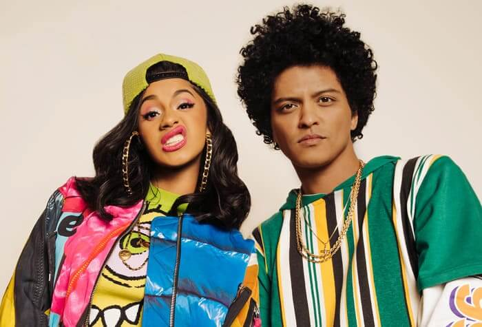 Bruno Mars and Cardi B Finesse - The Top March Music Who You Should Listen To This Month
