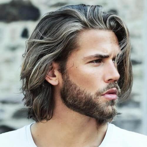 White Underlights Medium Hair - Top 10 Popular Men Hairstyles in 2019