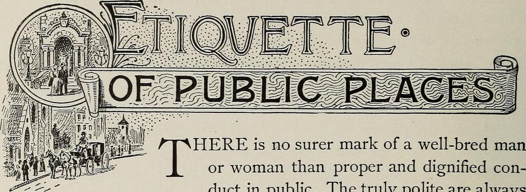etiquette rules on public places