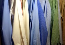 mens collection of shirt in home