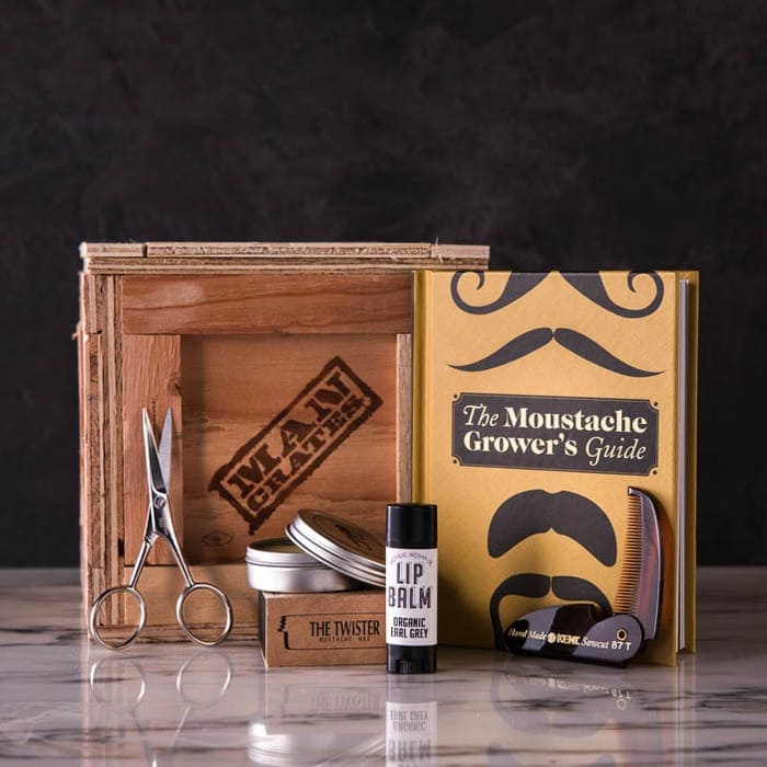 Dashing Stache Man Crates - Last Minute Christmas Gift Ideas for Him
