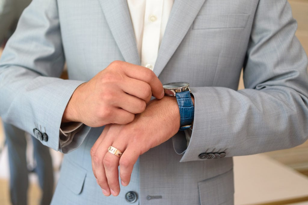 Groom wearing a business suit 1024x683 - A Guide to the Groom's Wedding Outfit