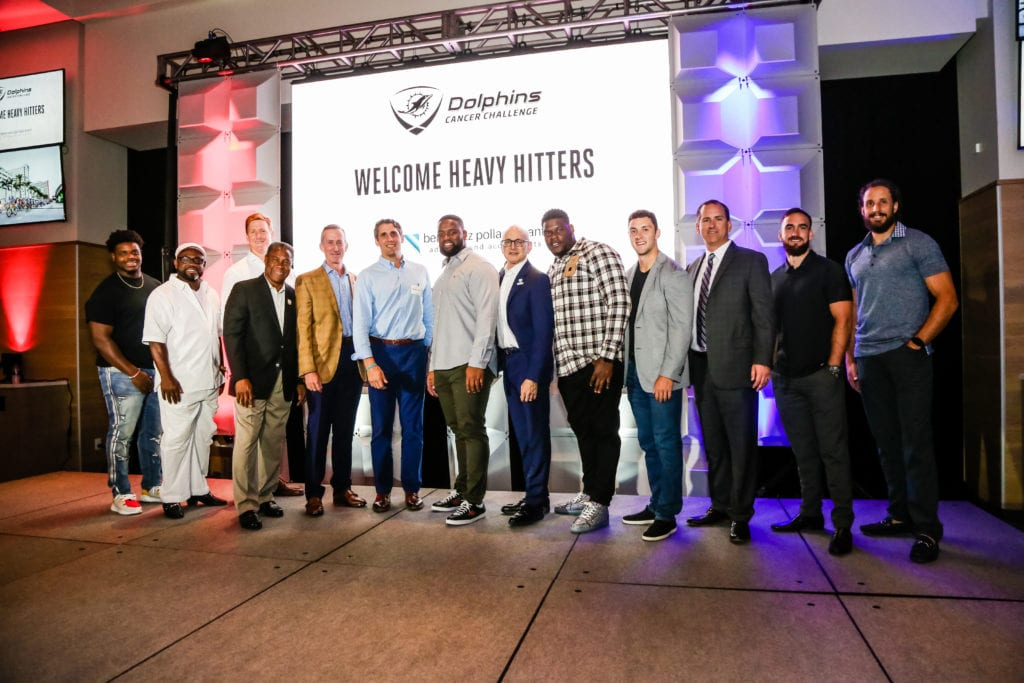 Miami Dolphins Players and Alumni Mark Duper and Nat Moore attend Heavy Hitters Celebration to Honor DCC Heavy Hitters 1024x683 - Miami Dolphins Host Dolphins Cancer Challenge Heavy Hitters Celebration