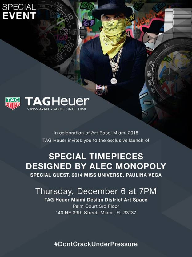 Tag Heuer event - 2018 Art Basel Guide To The Best Events You Won't Easily Find