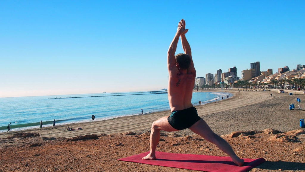 Virabhadrasana I 1024x576 - 10 Yoga Poses That Aid in Addiction Recovery