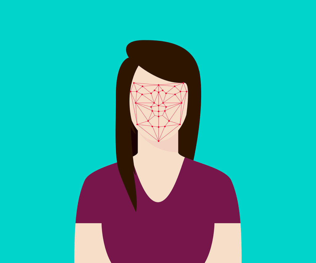 face recognition of a women 1024x853 - Is Facial Recognition the New Smartphone Security Standard?