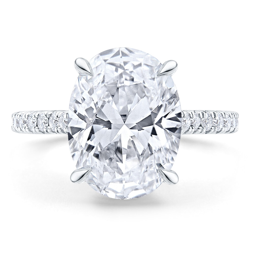 oval diamond ring - Men's Guide to Engagement Rings