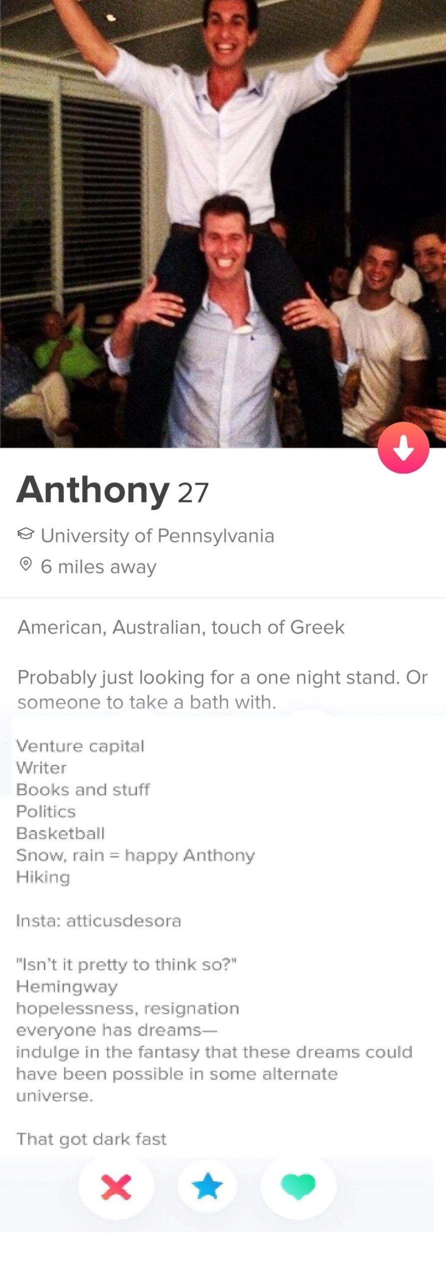best tinder profiles for guys