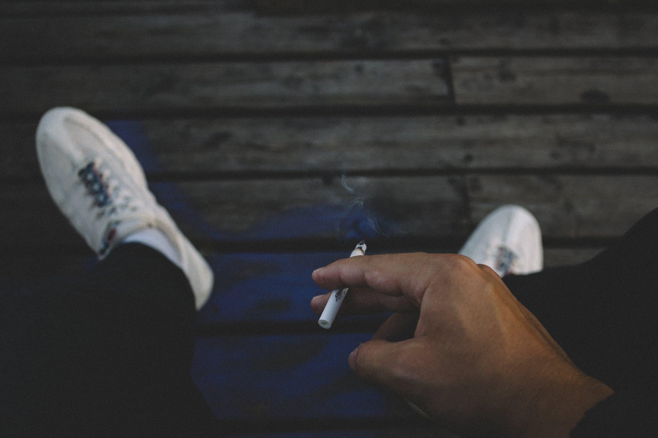 taking up smoking