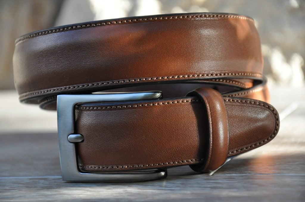 Brown Leather Belt 1024x680 - 6 Low Key (But Eye-Catching) Accessories Every Guy Needs