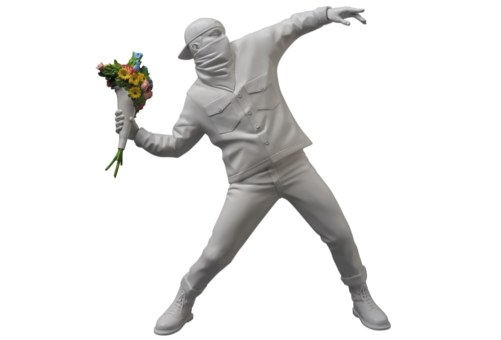 Banksy Flower Thrower A - 5 ways to make your home your own personal art museum