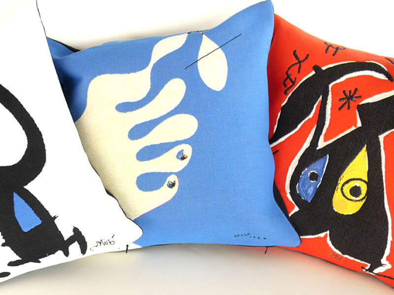 pillows miro6 3 - 5 ways to make your home your own personal art museum
