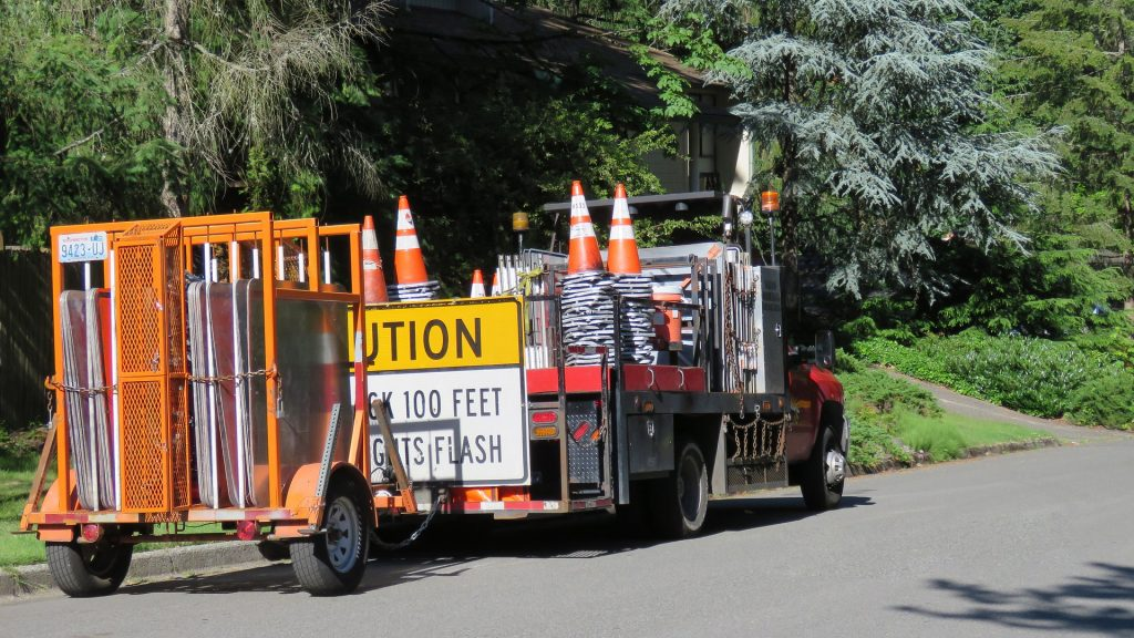 barricade trailer 1024x576 - Stay Safe With Construction Barricades
