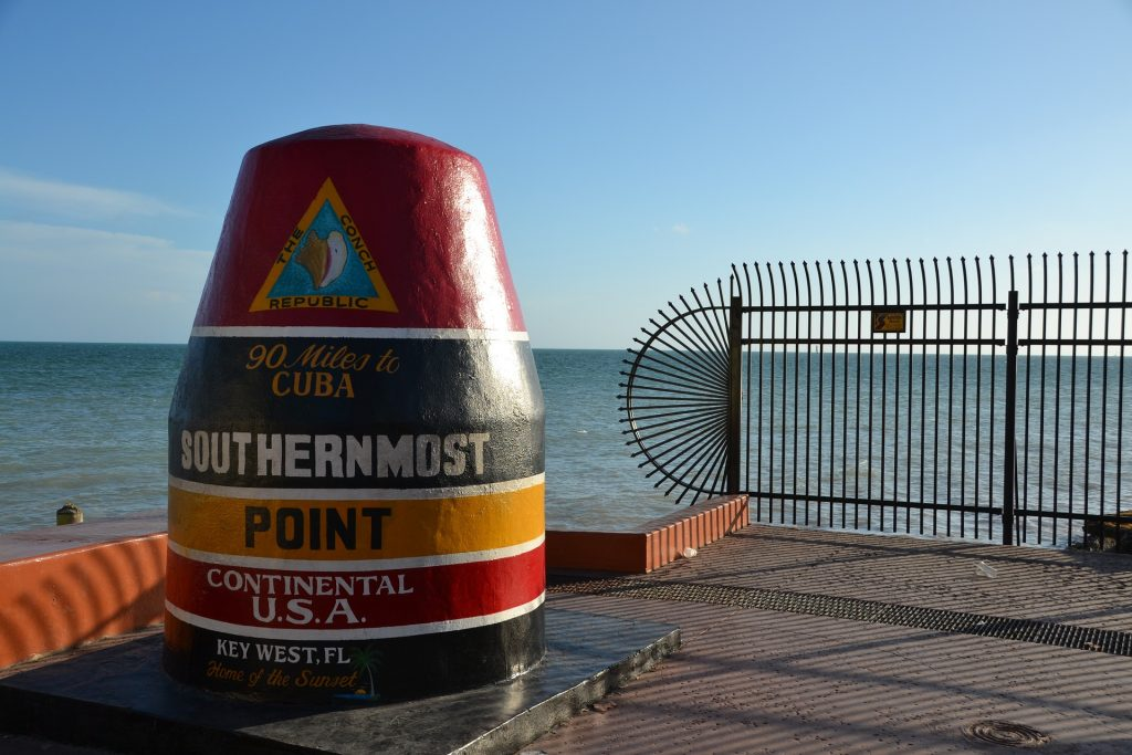 KeyWest SouthermostPoint 1024x683 - Amazing winter road trips in the US