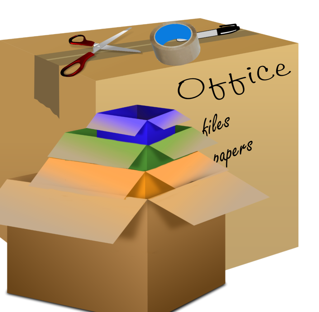 moving boxes cardboard drawing 1024x999 - Staying In LA? Here Is How You Can Benefit from Storage Units in Your Area