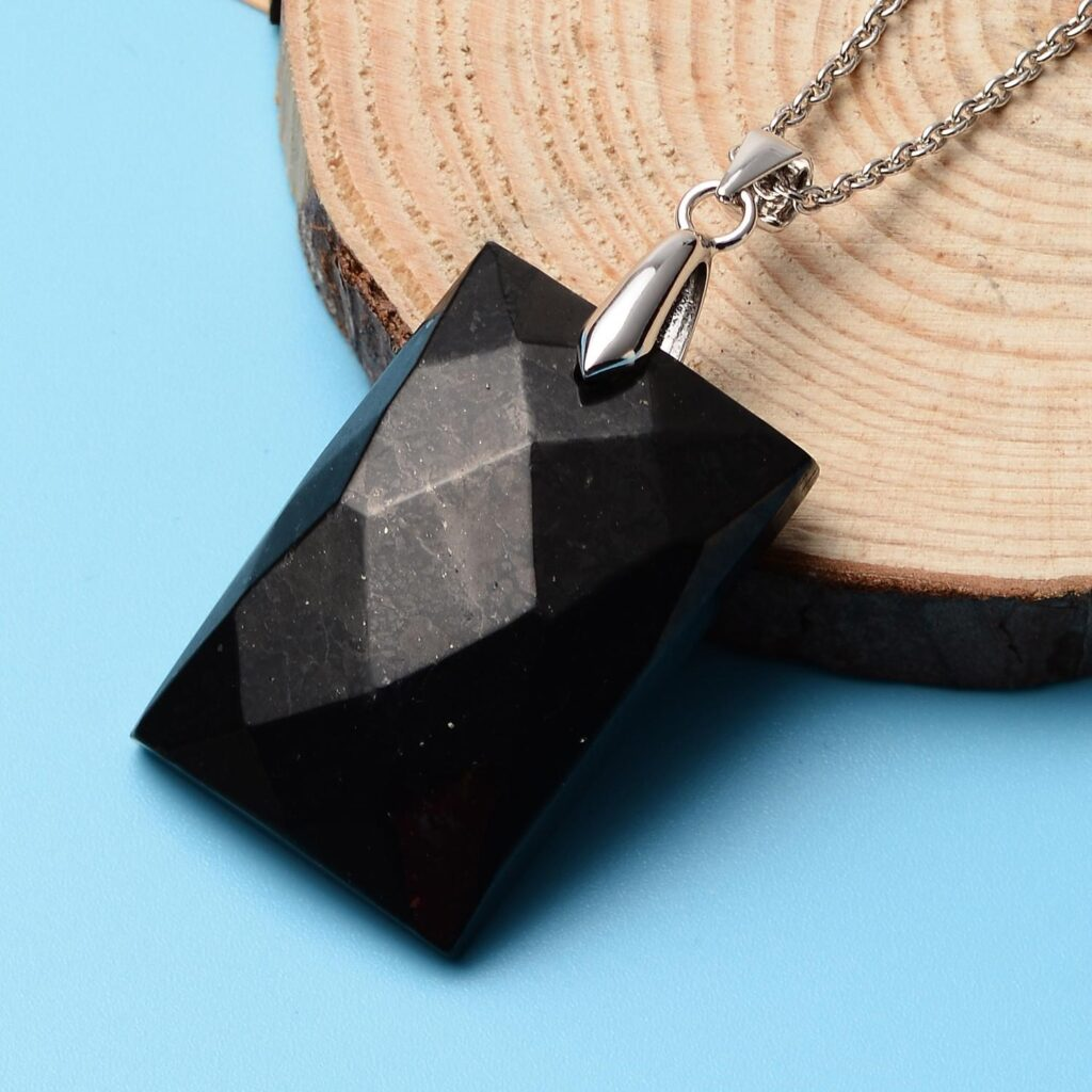 Dainty Black Shungite Pendant 1024x1024 - Necklaces to Match with Elegant Dresses for the Perfect 2021 Dinner Date