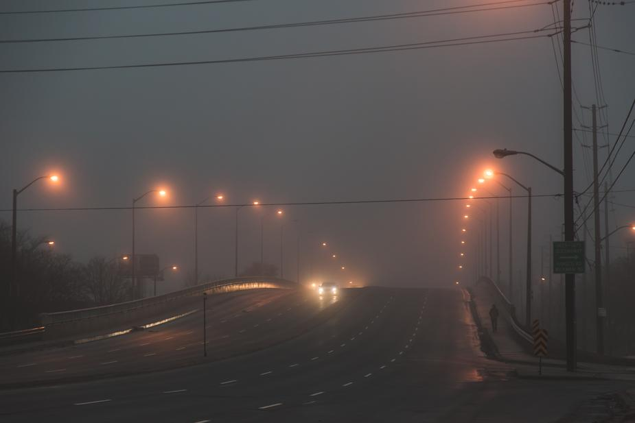 foggy city bridge at night - How To Find the Right Pair of Glasses for Driving